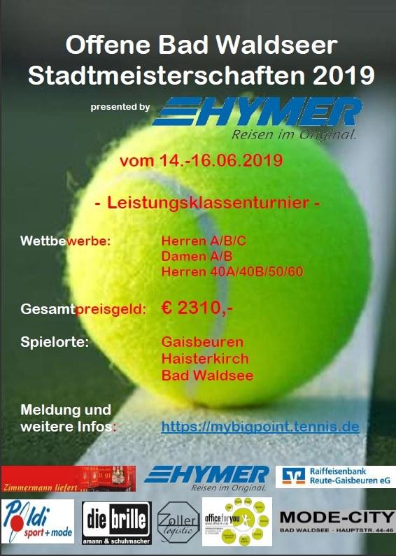 Bad Waldseer Tennis-Stadtmeisterschaft 2019