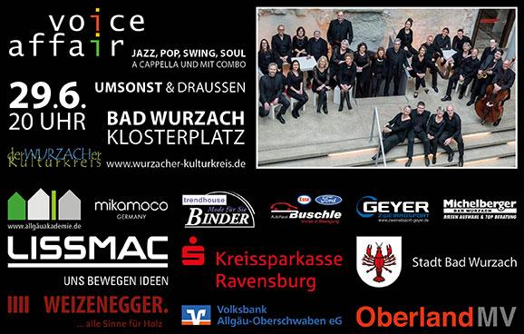 Wurzacher Kulturkreis - Voice Affair Juni 2019