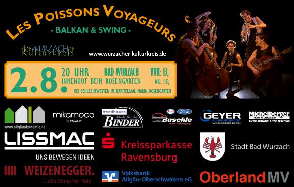 """""""Les Poissons Voyageurs"""" – Balkan & Swing"""
