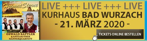 Heimatsterne Oswald Sattler Kurhaus Bad Wurzach 21.03.20